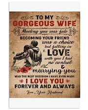 TO MY GORGEOUS WIFE B02 11x17 Poster front