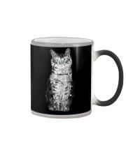 Cat Tropical Flowers Color Changing Mug thumbnail