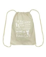 Flip Flop - Dog Lovin - Kinda Girl Drawstring Bag thumbnail