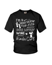 Flip Flop - Dog Lovin - Kinda Girl Youth T-Shirt thumbnail