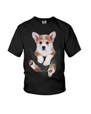Corgi In Pocket Youth T-Shirt thumbnail