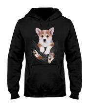 Corgi In Pocket Hooded Sweatshirt thumbnail