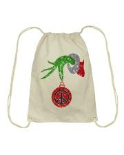 Hippie christmas Drawstring Bag thumbnail