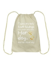 Her Dog And Her Other Dog Drawstring Bag thumbnail