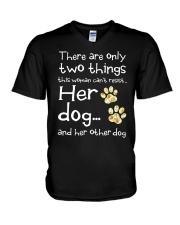 Her Dog And Her Other Dog V-Neck T-Shirt thumbnail