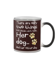 Her Dog And Her Other Dog Color Changing Mug thumbnail