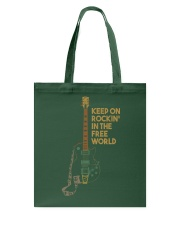 Keep on rockin in the world Tote Bag thumbnail