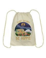 Don't worry be hippie Drawstring Bag thumbnail