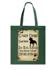 Crazy Dogs - Paw Tote Bag thumbnail