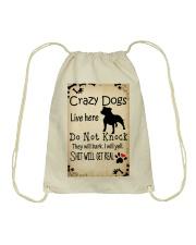 Crazy Dogs - Paw Drawstring Bag thumbnail