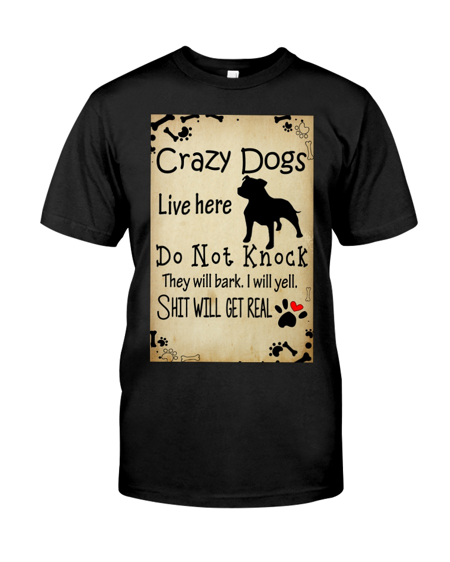 Crazy Dogs - Paw Classic T-Shirt