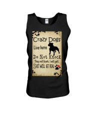 Crazy Dogs - Paw Unisex Tank thumbnail