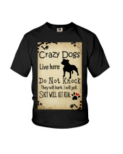 Crazy Dogs - Paw Youth T-Shirt thumbnail