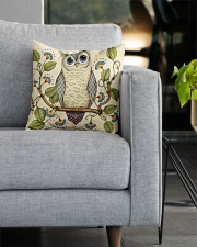 owl Square Pillowcase aos-pillow-square-front-lifestyle-05