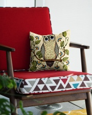 owl Square Pillowcase aos-pillow-square-front-lifestyle-09