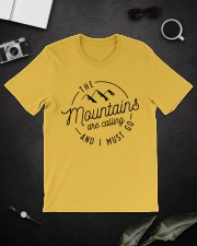 The Mountains are calling and I must go Classic T-Shirt lifestyle-mens-crewneck-front-16