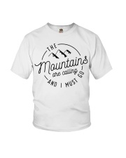 The Mountains are calling and I must go Youth T-Shirt thumbnail