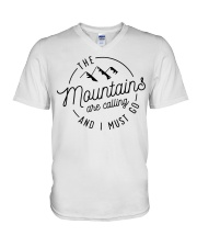 The Mountains are calling and I must go V-Neck T-Shirt thumbnail