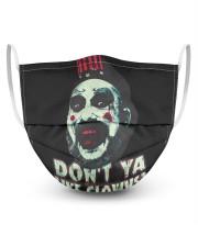 Don't ya like clowns 3 Layer Face Mask - Single thumbnail