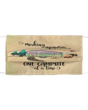 FM Making memories one campsite at a time Cloth face mask front