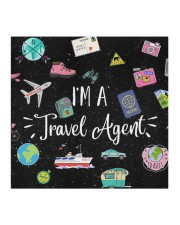 FM I'm a travel Agent Cloth face mask aos-face-mask-coverlet-lifestyle-front-02