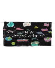 FM I'm a travel Agent Cloth face mask front