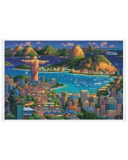 RIO DE JANEIRO POSTER Puzzles tile