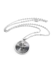 BRAZIL STORY BEGINS Metallic Circle Necklace aos-necklace-circle-metallic-lifestyle-03