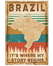 BRAZIL MAP Vertical Poster tile