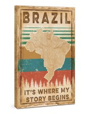BRAZIL MAP Gallery Wrapped Canvas Prints tile