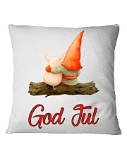 ADORABLE NORWEGIAN NISSE WITH PIG Square Pillowcase thumbnail