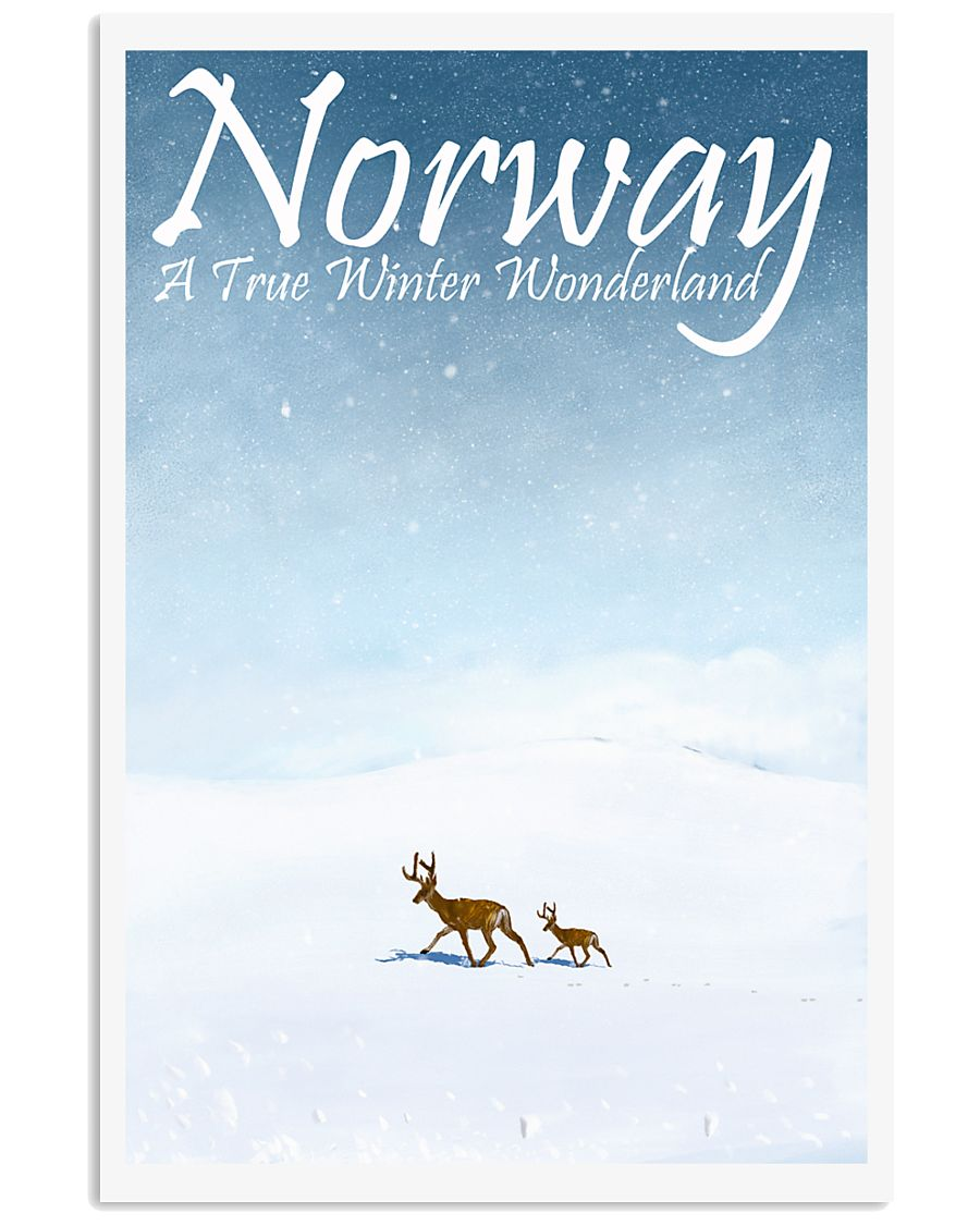 NORWAY - A TRUE WINTER WONDERLAND 11x17 Poster