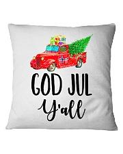 GOD JUL Y'ALL TRUCK Square Pillowcase thumbnail