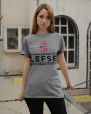 SURROUND YOURSELF WITH LEFSE Classic T-Shirt apparel-classic-tshirt-lifestyle-19