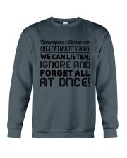 NORWEGIAN WOMEN MULTITASKING Crewneck Sweatshirt thumbnail