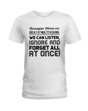 NORWEGIAN WOMEN MULTITASKING Ladies T-Shirt thumbnail