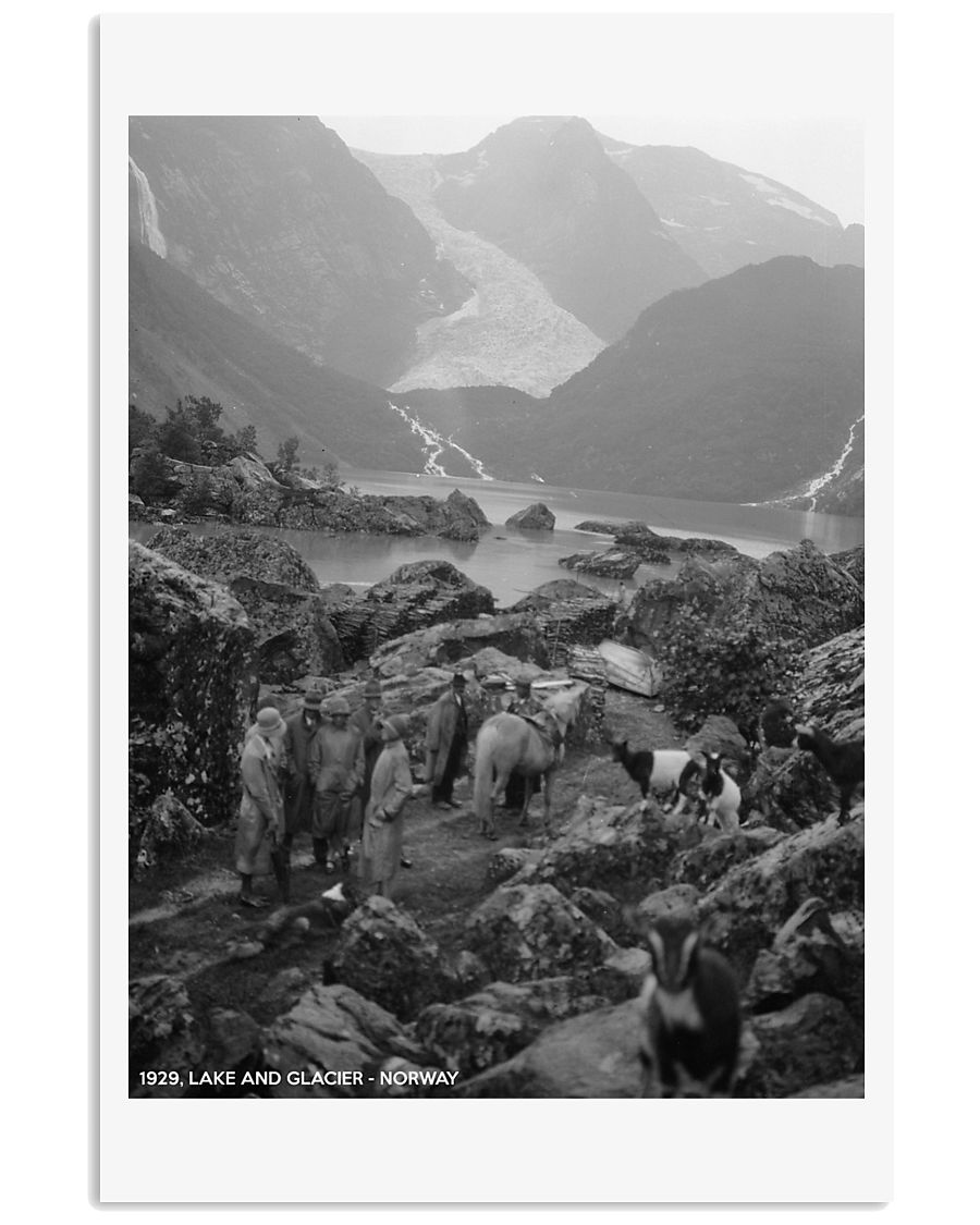 NORWAY 1929 LAKE AND GLACIER VINTAGE 11x17 Poster