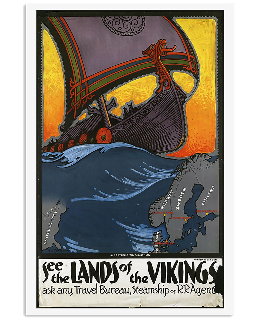 SEE THE LANDS OF THE VIKINGS VINTAGE TRAVEL POSTER 11x17 Poster