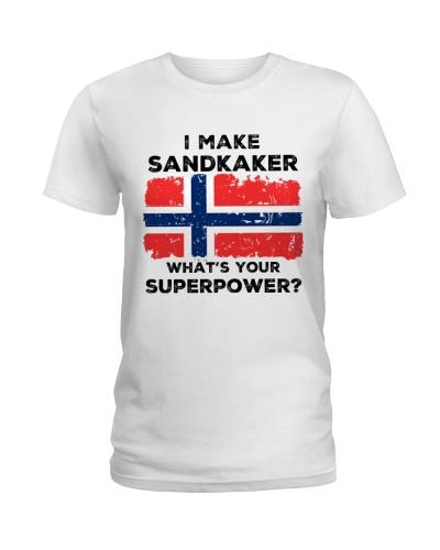 I MAKE SANDKAKER
