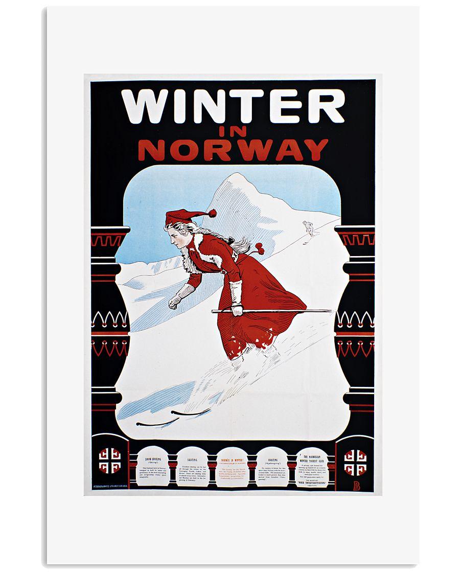 WINTER IN NORWAY VINTAGE 1907 11x17 Poster