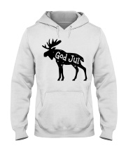 GOD JUL NORWEGIAN MOOSE Hooded Sweatshirt tile