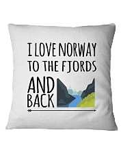 NORWAY FJORDS Square Pillowcase thumbnail