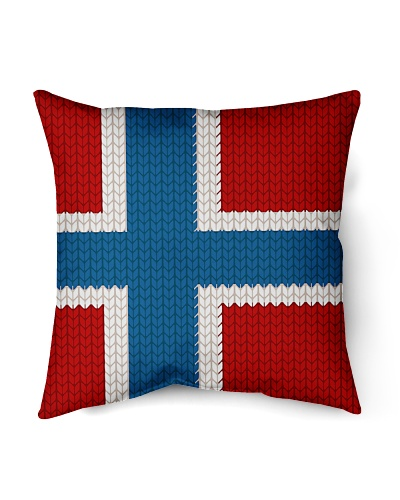 NORWEGIAN FLAG KNITTED
