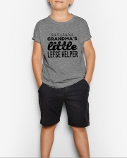 GRANDMA'S LITTLE LEFSE HELPER Youth T-Shirt lifestyle-youth-tshirt-front-1