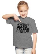 GRANDMA'S LITTLE LEFSE HELPER Youth T-Shirt lifestyle-youth-tshirt-front-2