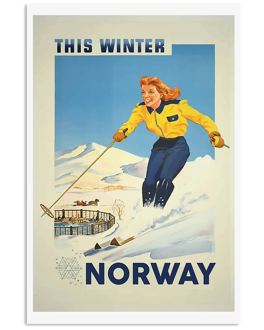 THIS WINTER NORWAY VINTAGE  11x17 Poster