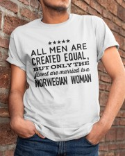 MARRIED TO A NORWEGIAN WOMAN Classic T-Shirt apparel-classic-tshirt-lifestyle-26