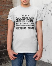 MARRIED TO A NORWEGIAN WOMAN Classic T-Shirt apparel-classic-tshirt-lifestyle-31