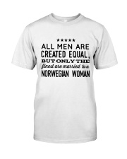MARRIED TO A NORWEGIAN WOMAN Classic T-Shirt front