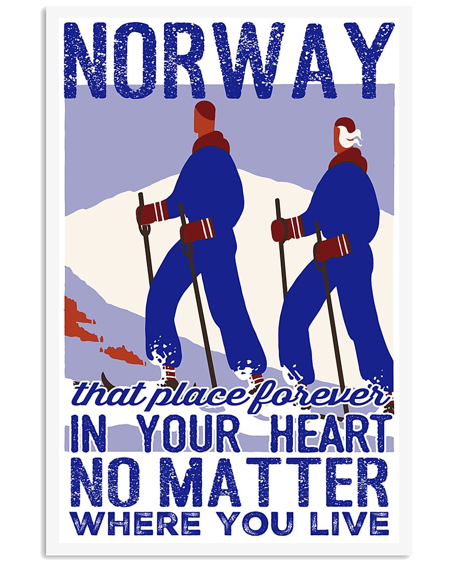 NORWAY IN MY HEART VINTAGE  11x17 Poster